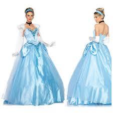 Ball Gown Halloween Costumes Deluxe Disney Princess Cinderella Satin Ball Gown Dress