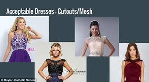 prom dress guidelines lead to body shaming accusation daily mail