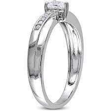 miabella 1 4 carat t g w created white sapphire and diamond