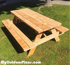 Plans For Picnic Table With Detached Benches by Great 6 Ft Picnic Table 6 Ft Redwood Picnic Table With Separate