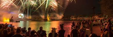 is there a view of illuminations from via nap disney parks