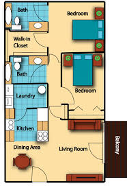 architectural plan of two bedroom flat with concept picture 3388