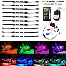 led light strips kit 2017 motorcycle led light kit strips dual ir rf remote controller
