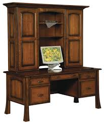 Home Office Writing Desks by Amish Traditional Writing Computer Desk Hutch Solid Wood Office