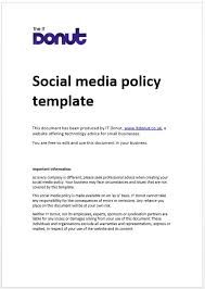 social media policy template social media policy pinterest