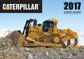 caterpillar 2017 16 month calendar september 2016 through