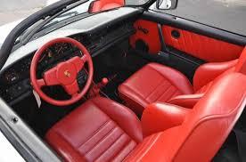 porsche red interior 1989 porsche 911 speedster german cars for sale blog