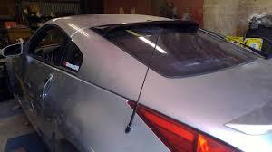nissan 350z rear spoiler gt styling 350z roof wing review youtube