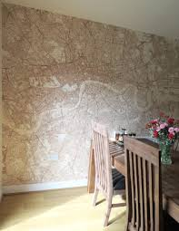 custom map wallpaper by wallpapered homify