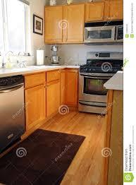 oak modern kitchen modern kitchen cabinets in oak stock photos image 12032743