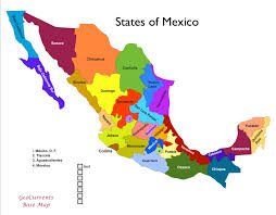 map of mexico with states fixed canadian provinces american and mexican states by in map of