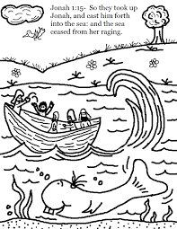 jonah and the whale coloring pages free eson me