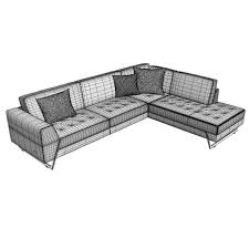 roche bobois satelis canape sofa and armchair free 3d model max