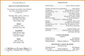 program for funeral service 11 funeral service program letter format for
