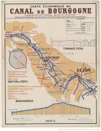 chambre de commerce dijon carte économique du canal de bourgogne dressée par m peyre