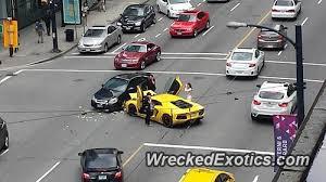 lamborghini aventador crashes lamborghini aventador crashes in downtown vancouver
