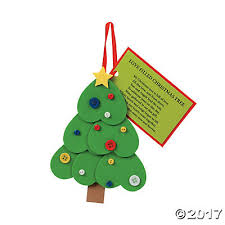 tree ornament with poem craft kit