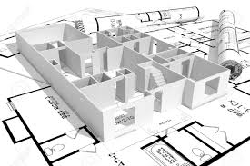 Interesting House Plans by 3d Building Drawing Background With A D Building Model And Rolls