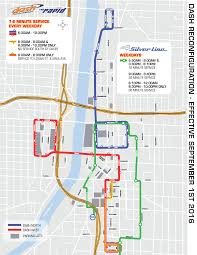 Silver Line Metro Map by Dash And Silver Line Enhance Routes To Better Serve Customers