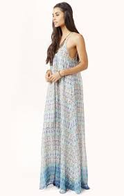 u back baby doll maxi dress blue life planet blue