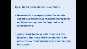 how to write a paper presentation tips for writing discussion chapter perfectly youtube