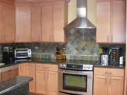 slate backsplashes for kitchens multi colored slate backsplash ubatuba granite counter