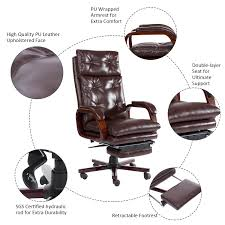 High Quality Office Chairs Aosom Homcom High Back Pu Leather Executive Reclining Office