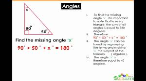 angles math tutorial finding the angle of a triangle math for