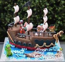 pirate ship cake 3d pirate ship cake with jake the pirate nc631 celebration