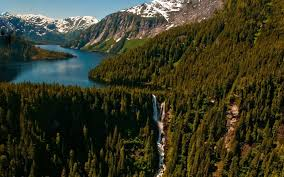 Alaska forest images Nature landscape forest mountains lake waterfall snowy peak jpg
