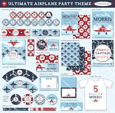 airplane party printables soaring boy u0027s birthday