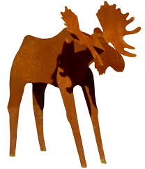 amazon com fantasy fauna lsms 84 u0027rusty u0027 moose pre rusted steel