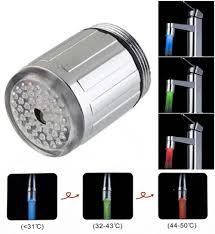 3 color kitchen faucet bathroom faucets temperature sensor
