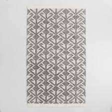 Black And Gray Area Rug Black Graphic Woven Emerson Indoor Outdoor Area Rug World Market