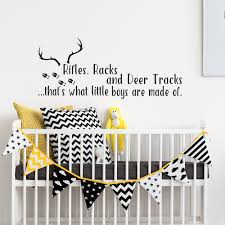 compare prices on tile tracke online shopping buy low price tile lovely antlers wall stickers quote rifles racks and deer tracks hunting themed kids room wall decal