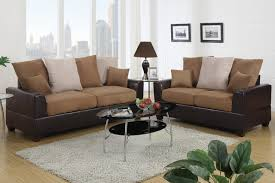 Contemporary Microfiber Sofa Saddle Microfiber Leather Sofa Couch Loveseat Living Room Pillow Back