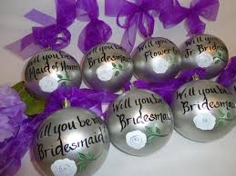 will you be my bridesmaid painted bridesmaid ornaments