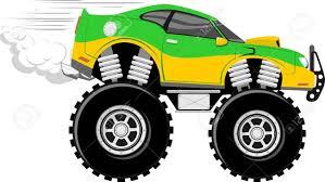 cartoon race car monstertruck race car 4x4 cartoon isolated on white background
