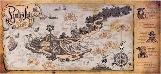 Old Treasure Map Disneyland U0027s Pirate U0027s Lair Map In The Style Of The Old Tom