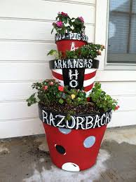 razorbacks terra cotta crafts terra cotta pots pinterest