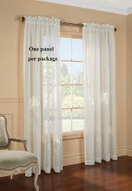 Embroidered Linen Curtains Sheer Curtain And Door Panels U2013 Sheer Curtain Panels At