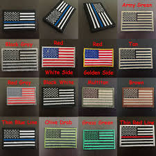 Us Military Flags Embroidered Usa American Flag Patches Us Army Military Tactical