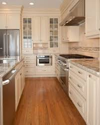 Cream Kitchen Cabinets by Image Of Cream Colored Distressed Kitchen Cabinets Decorating