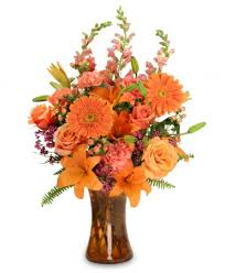 orange unique floral arrangement in san antonio tx heavenly