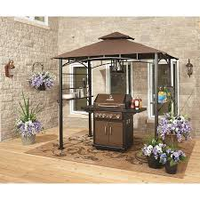 outdoor grill canopy patio shade covers gardenline grill gazebo