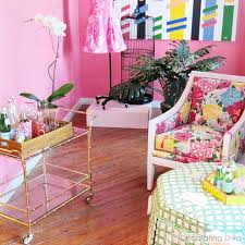 lilly pulitzer home decor vivacious effervescent color reigns in palm beach chic style