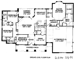 Floor Plans For Craftsman Style Homes Floor Plans For 2500 Square Feet Home Deco Plans