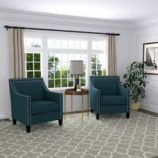 Blue Accent Chairs For Living Room by Victor Fabric Blue Accent Chairs 2 Pack