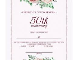 wedding vow renewal ceremony program how to organize a 50th wedding anniversary vow renewal