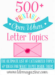 the ultimate list of 500 open when letter ideas openwhenletters